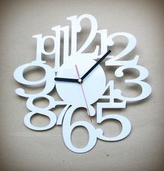 Hey, I found this really awesome Etsy listing at https://www.etsy.com/listing/115374153/acrylic-laser-cut-wall-clock-white