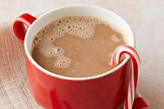 The chocolate syrup and peppermint give this hot coffee its awesome flavor and aroma. Now to give it festive flair—serve with candy canes!