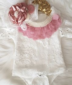 7a54fa049ff7 Kryssi Kouture White Lace Vintage Pearl Lily Romper A new take on our  customer favorite Lily