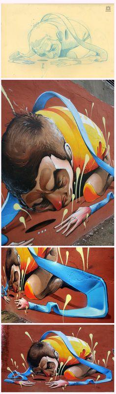 """""""El secreto del agujero"""" Por Isaac Mahow / Zaragoza / España. http://www.behance.net/Isaacmahow"""