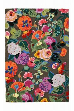 "Major Lust over this Anthropologie rug ""Gloria's Garden Rug"""