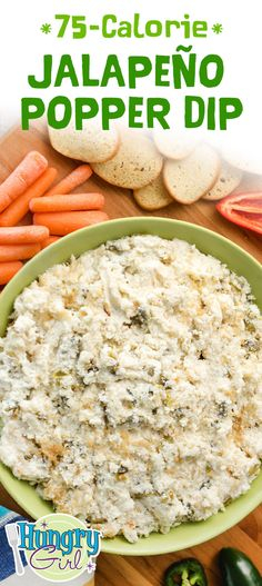 Healthy Jalapeño Popper Dip with Cauliflower Hungry Girl Healthy Dips, Healthy Appetizers, Appetizer Recipes, Healthy Recipes, Potluck Recipes, Healthy Options, Diabetic Recipes, Snack Recipes, Omelette
