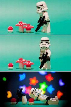 He deserves it, poor guy. He's a trooper.