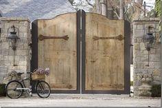 """""""Chateau Dominique via decor de provence"""" via Elegant Entrance - Design Chic Front Gates, Entrance Gates, Front Doors, Entrance Design, Grand Entrance, Garage Doors, Side Gates, Driveway Gate, Fence Gate"""