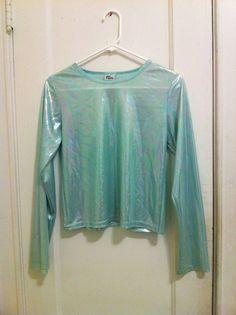 HOLOGRAPHIC long sleeve metallic shirt 90s RESERVE