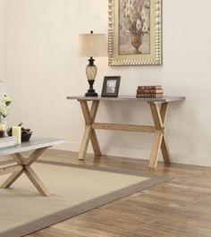 Luella Weathered Oak Wood Sofa Table