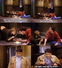 My favorite part is that Joey has a fork on him.