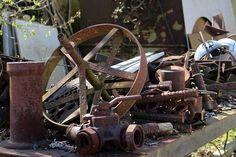 pile of old, rusty metal