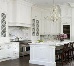Classic Chic Home: Timeless Design:  Elegant White Kitchens m.              One of the best !