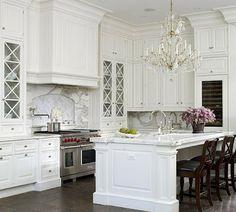 Classic Chic Home: Timeless Design:  Elegant White Kitchens
