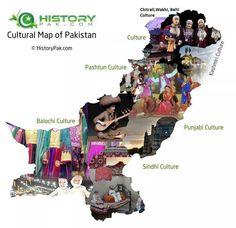 Cultural map of Pakistan.