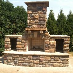 The FireRock Arched Masonry Outdoor Fireplace gives you the base for a stunning, custom fireplace. Outdoor Wood Burning Fireplace, Outside Fireplace, Outdoor Fireplace Designs, Backyard Fireplace, Custom Fireplace, Diy Fireplace, Fire Pit Backyard, Backyard Patio, Outdoor Fireplaces