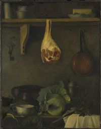 Philadelphia Museum of Art - Collections Object : Still Life of Kitchen Shelves with a Ham