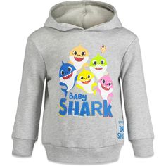 Pinkfong Baby Shark Fleece Pullover Hoodie with Singing Chip - 3T