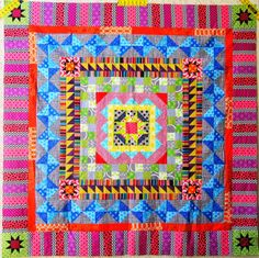 Quarter Incher: Sew Lux Fabrics Club Medallion BOM: March Border and Finished Quilt Top!