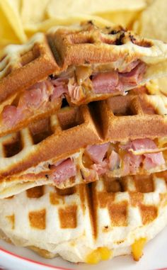 what goes on in the test kitchen - waffle sandwich | foodie