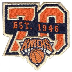 2017 Official NBA New York Knicks 70th Anniversary Small Jersey Patch