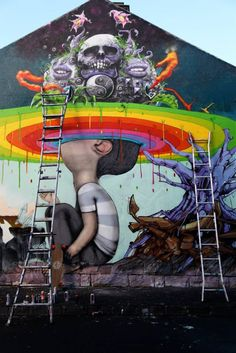 Seth + Makatron + Sirum + Plea + Dem189 :: New Mural In Melbourne, Australia