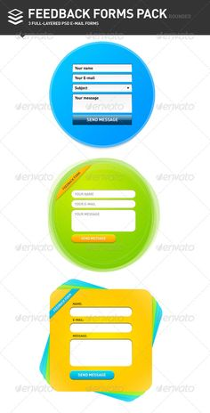 Cool rounded E-mail Forms for your designs. The pack includes: 3 .psd and 3 transparent .png files.  PSDfiles are fully layered
