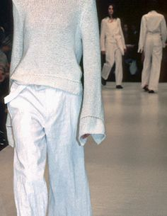 ANN DEMEULEMEESTER, SS99. Nice white sweater, sleeves too long for me but like construction.