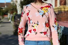 Sydney-Fashion-Blogger-Chloe-Hill-wears-Kate-Sylvester-Pink-floral-knit-sweater