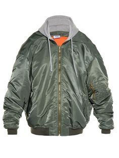 VETEMENTS Oversized Hooded Bomber Jacket. #vetements #cloth #jacket