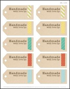 Etiquetas hecho a mano