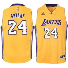 c9c170b95 Mens Los Angeles Lakers Kobe Bryant Number 24 Jersey Gold http   www.