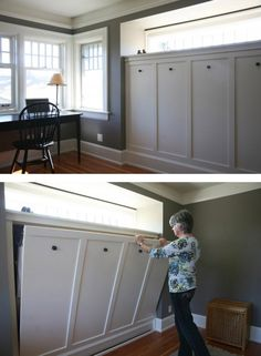 Office with built-in fold-out/Murphy bed -- Photo © Michael Hipple -- The Johnson Partnership Architects