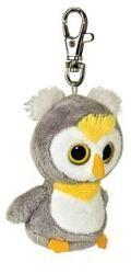"""Keyclip Soft Toy Plush by AURORA YooHoo and Friends 3/""""Fennec Fox Santa Keyring"""