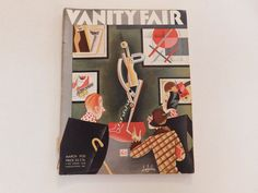 VANITY FAIR COVER BY ALADJALOV March The front and back cover are only attached by a little part of the binding. There are a few bends in the cover but in fair condition for the age. Vanity Fair Magazine, Vintage Prints, March, Cover, Ebay, Mac