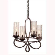 Kalco Lighting Grayson Heirloom Bronze Four Light Chandelier On SALE