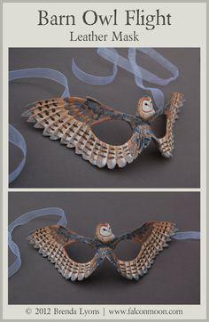 Barn Owl Flight - Leather Mask by *windfalcon on deviantART