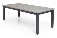 ARRAKASTA Monaco 280x100 svart/grå - Uttrekkbart bord | Trademax.no