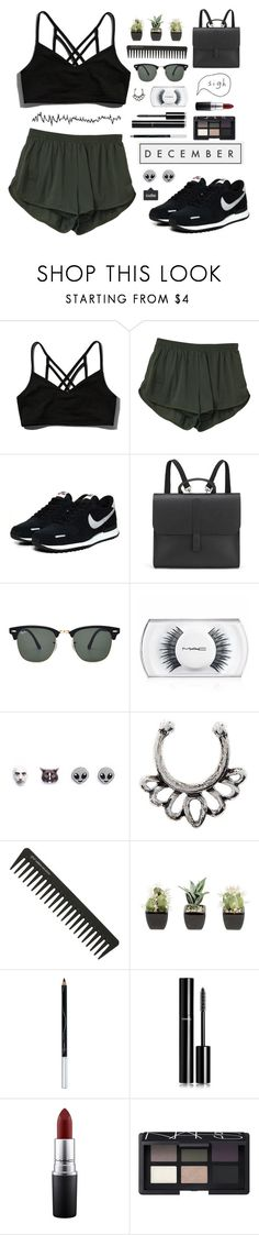"""""""- ̗̀ you can rise like the tide  ̖́-"""" by i-get-a-little-bit-breathless ❤ liked on Polyvore featuring Abercrombie & Fitch, NIKE, Danielle Foster, Ray-Ban, Human, MAC Cosmetics, American Eagle Outfitters, GHD, BBrowBar and Chanel"""
