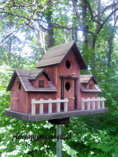 Bird house, farm house doll house,folk art primitives