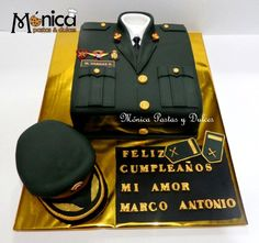 TORTA MILITAR PNP  con detalles unicos , elaborado por MONICA PASTAS Y DULCES