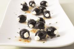 Have to Have Blue Cheese stuffed black olives for vodka Martini's