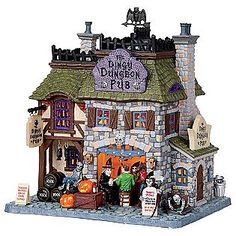 Lemax Spooky Town Collection -Dingy Dungeon Pub with 6-Foot Cord