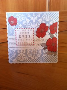 Teresa Collins stationery paper bday card for carly