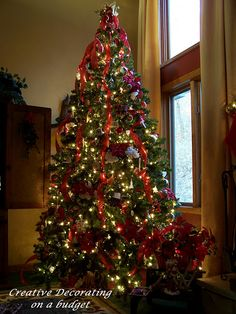this is how I want the ribbon on our tree.
