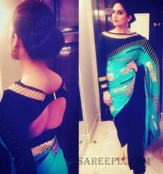 Bolly beauty Huma Qureshi in Shivan and Narresh saree at IIFA rocks tonight 2016.