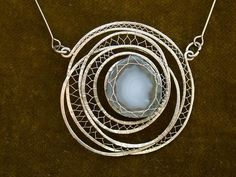 Pendant: wires wrapped. Delicate touches. - wire wrapping