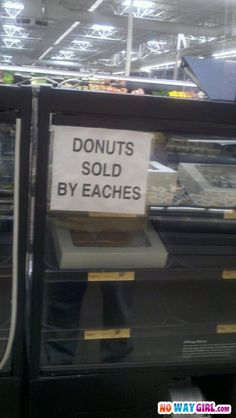 Donuts Sold By Eaches? This makes me think about Sneeches shopping for donuts at walmart