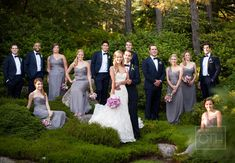 I like the scattered look of the bridal party. I have an uneven bridal party, 4 bridesmaids, 8 groomsmen Bridal Party Poses, Wedding Poses, Wedding Photoshoot, Wedding Portraits, Wedding Shoot, Bridal Gown, Wedding Dresses, Wedding Ceremony, Wedding Photography Inspiration