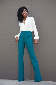 I love wide leg trousers!!  They look great on me and are classic!    442