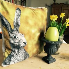 #osterhase #hare #easterbunny #cushion #happyeaster