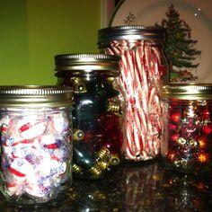 Ball jars of 'Christmas stuff' already on hand.