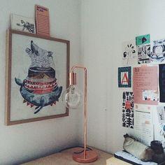 #home #urbanara #lampe #illlustrationen #copper Diese wundervolle Lampe von @urbanara zuerst gesehen bei @herz.und.blut @gretasschwester