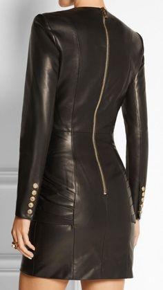 Womens Leather Dress